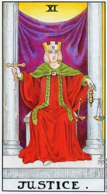 XIVIII Справедливость Правосудие Старший Аркан Таро