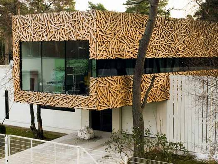 Красивый фасад деревом своими руками 50