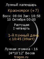 Фазы Луны на tragos.ru (Красноярск )