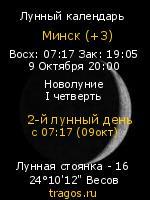 Фазы Луны на tragos.ru (Минск )